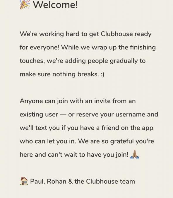 Get an Invite for Clubhouse iPhone App